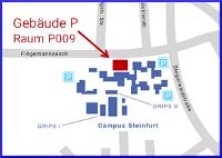 Lageplan eLKaTe, Raum P009