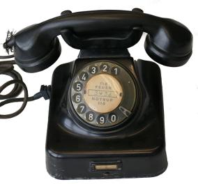 Schwarzes Telefon der analogen Technik