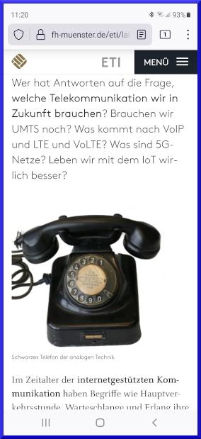 Analges Schwarzes Telefon auf digitalem Handy